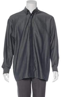 Versace V2 Pinstriped Woven Shirt