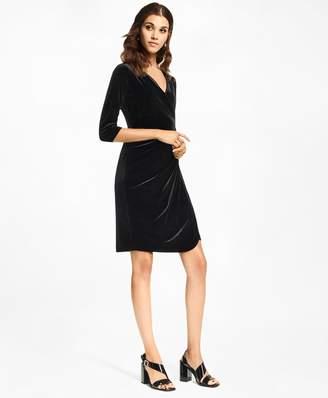 Brooks Brothers Velvet Faux Wrap Dress
