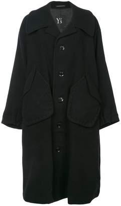 Y's single breasted midi coat