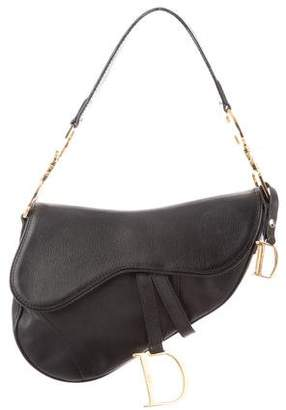 Christian Dior Leather Saddle Bag