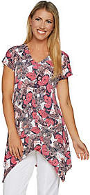 Women with Control Attitudes by Renee Butterfly Print Cap SleeveTunic