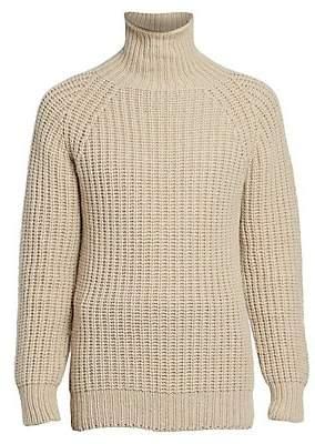 Officine Generale Men's Seamless Turtleneck Wool Sweater