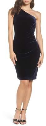 Vince Camuto One Shoulder Velvet Dress