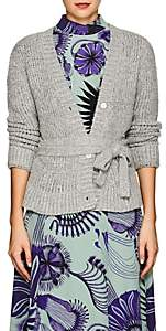 Brock Collection Women's Kane Silk-Cashmere Belted Cardigan-Gray