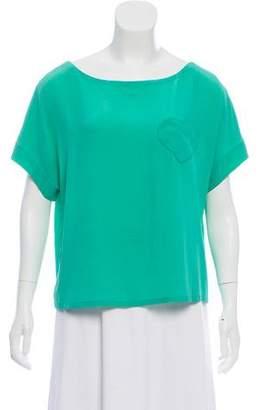 Sonia Rykiel Sonia by Silk Short Sleeve Top