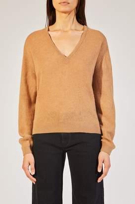 SAM. Khaite The Sweater In Camel
