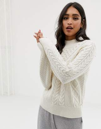 Abercrombie & Fitch high neck cable knit sweater