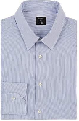 John Vizzone Men's Striped Cotton-Blend Poplin Dress Shirt