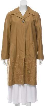 Max Mara Weekend Rachele Embroidered Knee-Length Coat w/ Tags