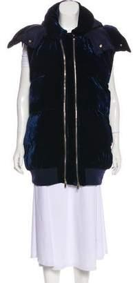 Stella McCartney Zip-Up Velvet Vest
