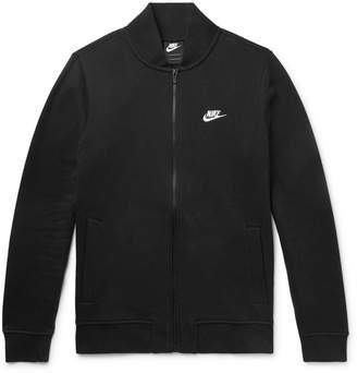 Nike Slim-Fit Fleece-Back Cotton-Blend Jersey Zip-Up Sweatshirt
