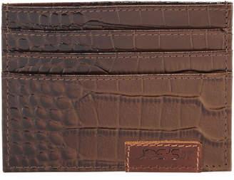 Joe's Jeans Men's Croc-Embossed Leather Credit Card Case