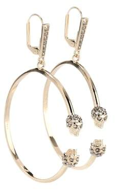 Alexander McQueen Skull Swarovski earrings