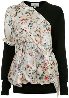 Preen by Thornton Bregazzi floral print panel jumper