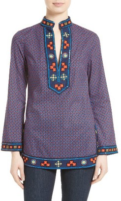 Women's Tory Burch Embellished Tunic $350 thestylecure.com