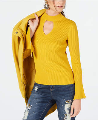 INC International Concepts I.n.c. Choker-Neck Bell-Sleeve Top