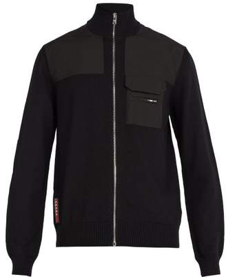 Prada Zipped Wool Jacket - Mens - Black