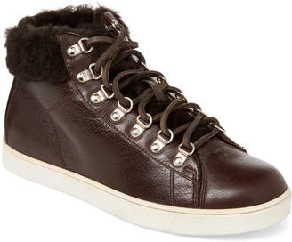 Gianvito Rossi Mocha Real Fur & Leather Sneakers