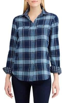 Chaps Petite Long Sleeve Button-Down Shirt