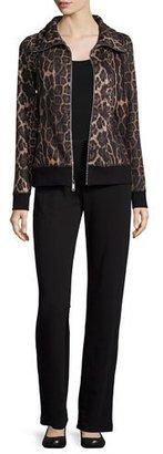 Neiman Marcus Plush Animal-Print Jacket & Pant Set $295 thestylecure.com