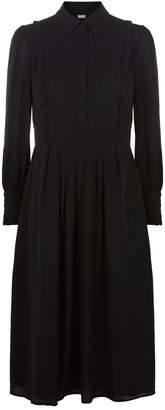 Claudie Pierlot Ruffled Yoke Midi Dress