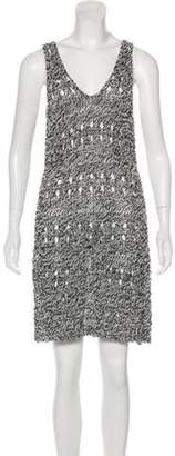 Derek Lam Knitted Sleeveless Dress Black Knitted Sleeveless Dress