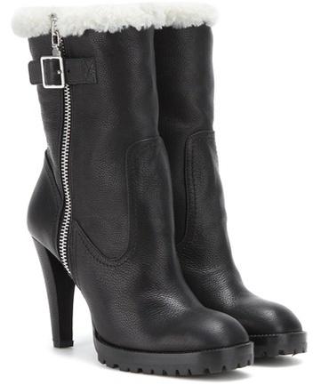 Alexander McQueenAlexander McQueen Shearling-lined Leather Boots