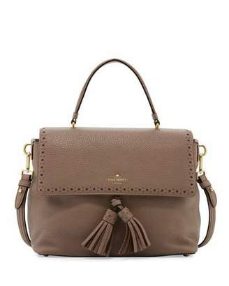 Kate Spade New York James Street Sparrow Leather Satchel Bag, Earthen Root $428 thestylecure.com