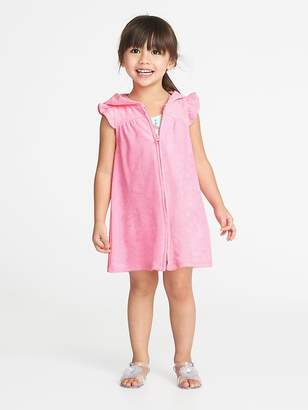 Old Navy Hooded Loop-Terry Zip-Front Cover-Up for Toddler Girls