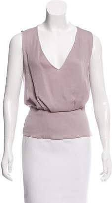 Genny Pleated Silk Top