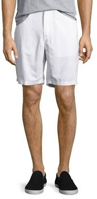 Michael Kors Tailored Cotton Chino Shorts, White $78 thestylecure.com