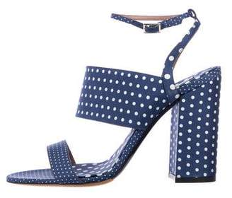Tabitha Simmons Canvas Ankle Strap Sandals