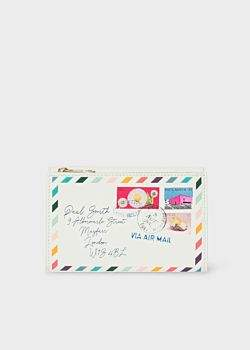 Women's Off-White 'Envelope' Print Leather Medium Purse