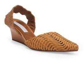 Stella McCartney Basket Weave Wedge Sandals