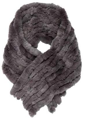 Yves Salomon Fur Knit Shawl