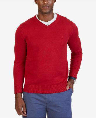 Nautica Men's V-Neck Classic Fit Sweater $49.98 thestylecure.com
