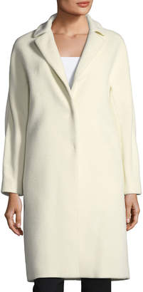 Herno Notched-Collar Button-Front Wool Long Car Coat