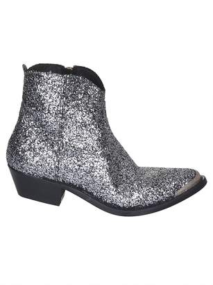 Golden Goose Glitter Ankle Boots