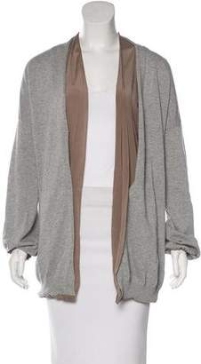 Brunello Cucinelli Open Front Long Sleeve Cardigan