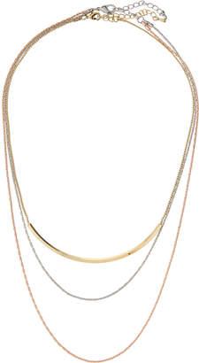 Panacea Tricolor Three-Row Necklace