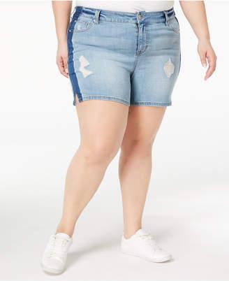 Celebrity Pink Plus Size Distressed Denim Shorts