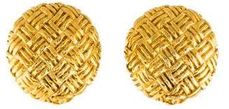 Chanel Quilted Button Clip-On Earrings