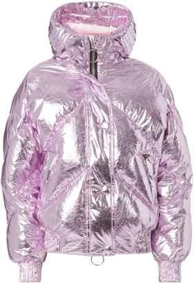 Dunlop Ienki Ienki Pink Foil Bomber Jacket