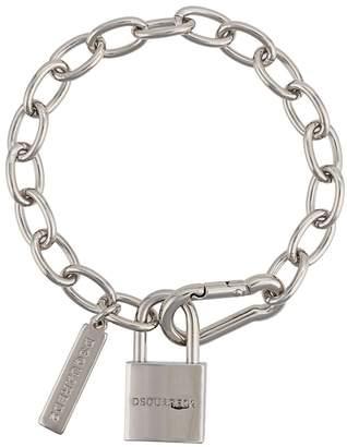 logo padlock bracelet