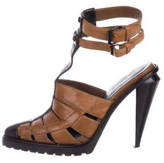Alexander Wang Leather Pointed-Toe Sandals