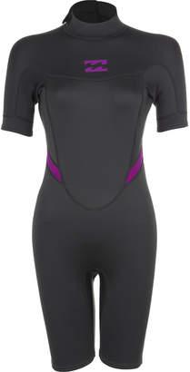 Billabong Synergy 2mm Back Zip Short-Sleeve Springsuit - Women's