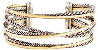 David Yurman Two-Tone Four-Row Crossover Bracelet