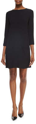 The Row 3/4-Sleeve Dress with Pockets