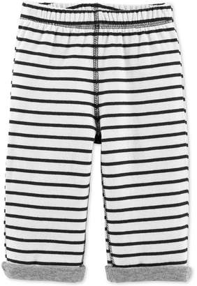 Carter's Carter Baby Boys & Girls Striped Reversible Pants