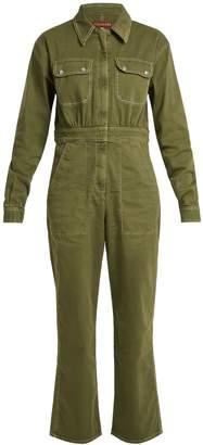 ALEXACHUNG Oversized straight-leg cotton-blend jumpsuit